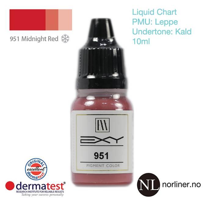 Bilde av MT-EXY #951 Midnight Red til PMU Leppe [Liquid