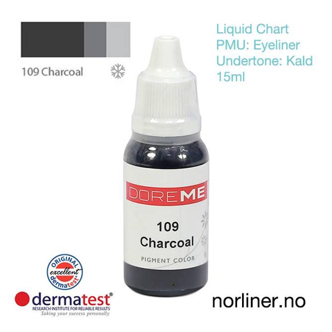 Bilde av MT-DOREME #109 Charcoal til PMU Eyeliner [Liquid