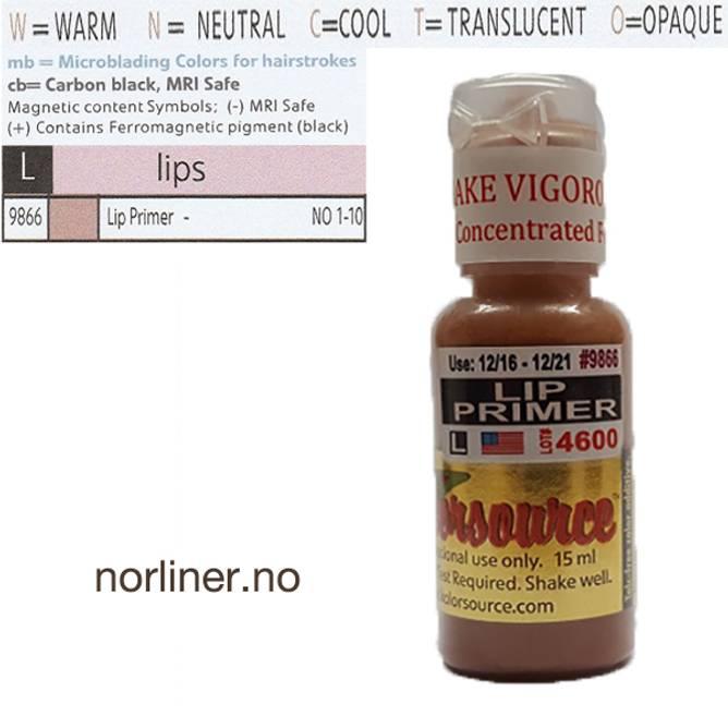 Bilde av KOLORSOURCE #9866 Lip Primer til PMU Leppe 15ml