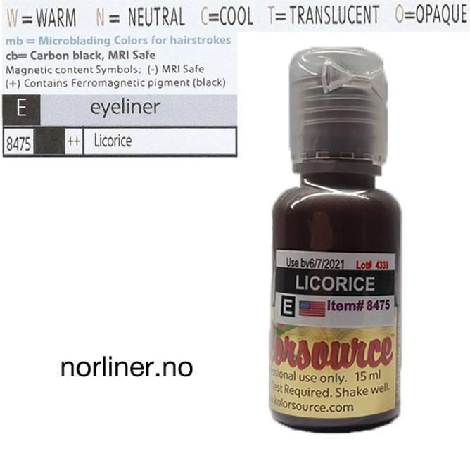 Bilde av  KOLORSOURCE #8475 Licorice til PMU Eyeliner 15ml