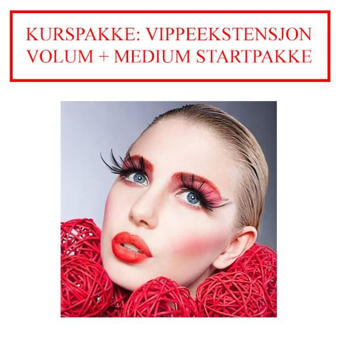 Bilde av KURSPAKKE: VIPPEEKSTENSJON VOLUM + MEDIUM